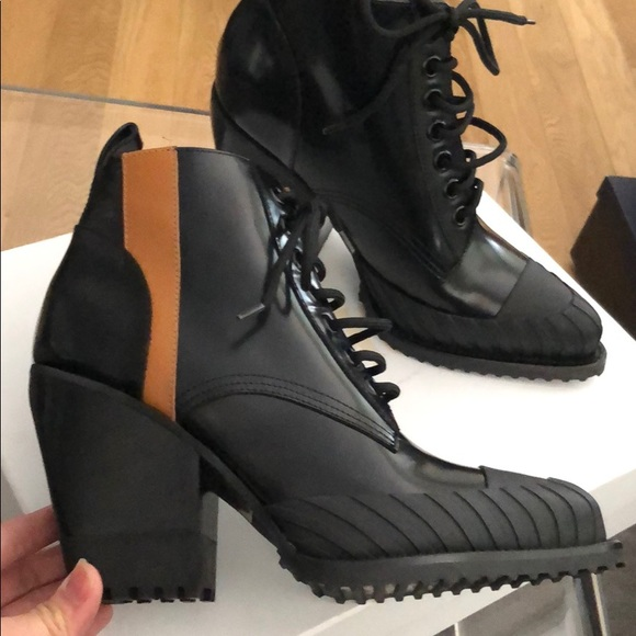55965ea43a21f4 Chloe Shoes | Rylee Combat Ankle Boots Nib Size 405 Eur | Poshmark